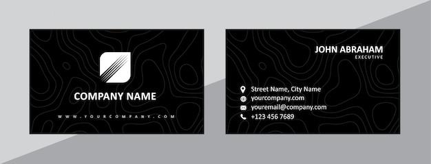Modelo de cartão-de-visita - natural preto dinâmico
