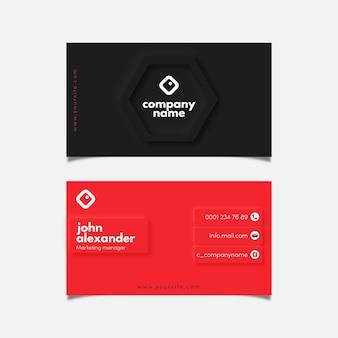 Modelo de cartão de visita neumorph