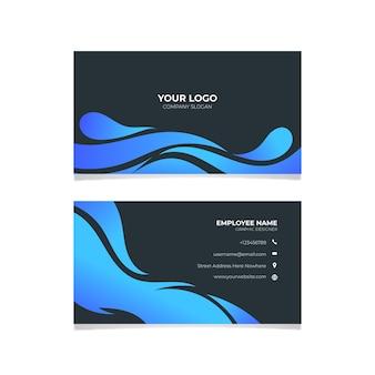 Modelo de cartão-de-visita - ondulado