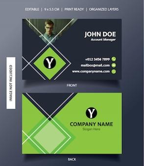 Modelo de cartão de visita ornamento de retângulo