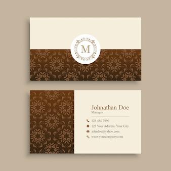 Modelo de cartão-de-visita - padrão elegante minimalista
