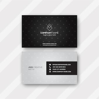 Modelo de cartão de visita padrão preto e branco