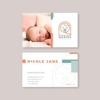 Modelo de cartão de visita para bebê
