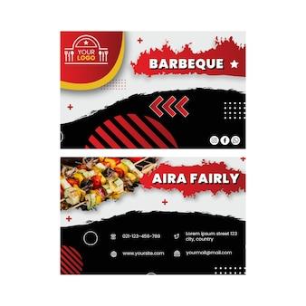 Modelo de cartão de visita para churrasco