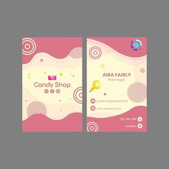 Modelo de cartão de visita para confeitaria