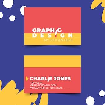 Modelo de cartão de visita para designer gráfico engraçado