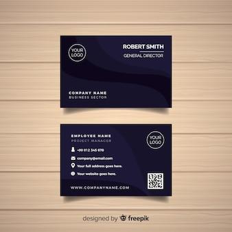 Modelo de cartão de visita plana