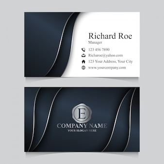 Modelo de cartão-de-visita - prata luxo