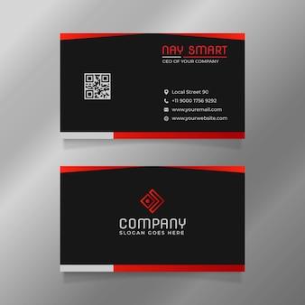 Modelo de cartão de visita preto simples