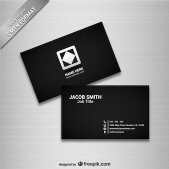 Modelo de cartão de visita preto