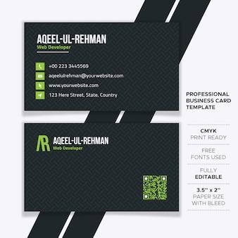Modelo de cartão de visita profissional criativo