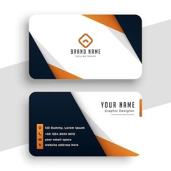 Modelo de cartão de visita profissional elegante