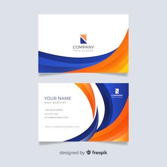 Modelo de cartão de visita profissional modelo