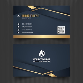 Modelo de cartão de visita profissional moderno e elegante