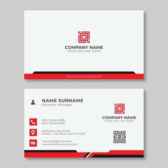 Modelo de cartão de visita profissional moderno vermelho e preto