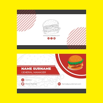 Modelo de cartão de visita - restaurante