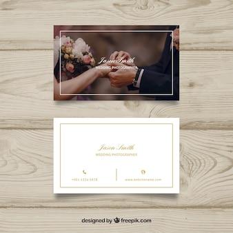 Modelo de cartão de visita romântico