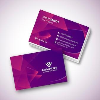 Modelo de cartão de visita roxo