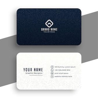 Modelo de cartão de visita simples em preto e branco