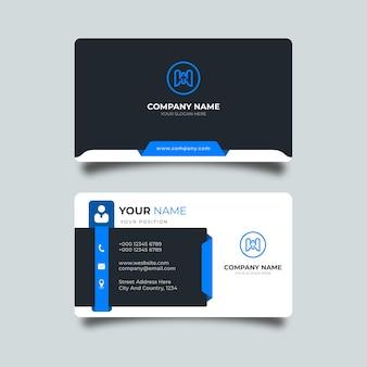 Modelo de cartão de visita simples moderno e minimalista