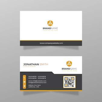 Modelo de cartão de visita simples moderno