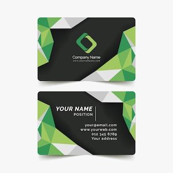 Modelo de cartão-de-visita - verde
