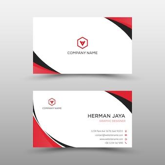 Modelo de cartão-de-visita - vermelho e preto