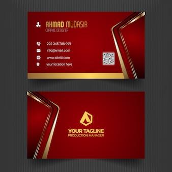 Modelo de cartão de visita vermelho