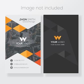 Modelo de cartão-de-visita vertical