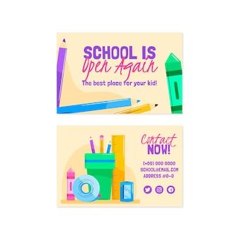 Modelo de cartão de volta à escola