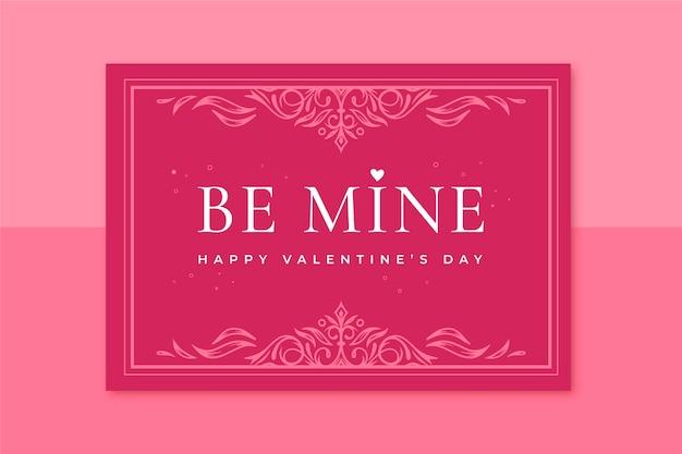 Modelo de cartão decorativo para o dia dos namorados