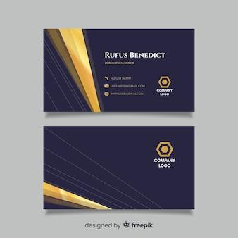 Modelo de cartão dourado