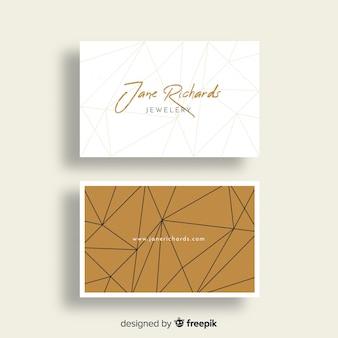 Modelo de cartão elegante com desenho geométrico
