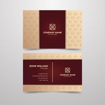 Modelo de cartão elegante