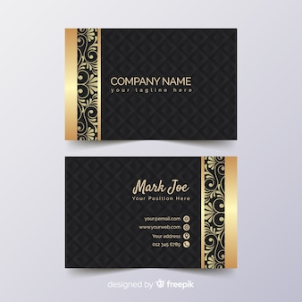 Modelo de cartão em estilo de luxo