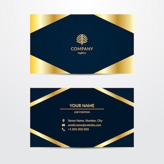 Modelo de cartão em estilo luxuoso