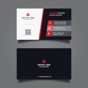 Modelo de cartão empresarial mínimo