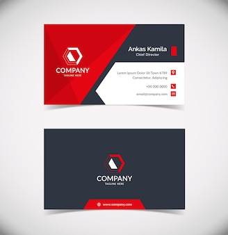 Modelo de cartão empresarial moderno e profissional
