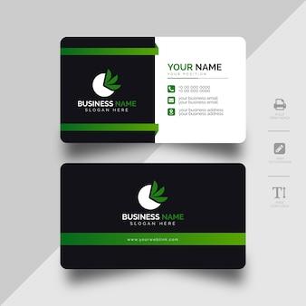 Modelo de cartão empresarial moderno