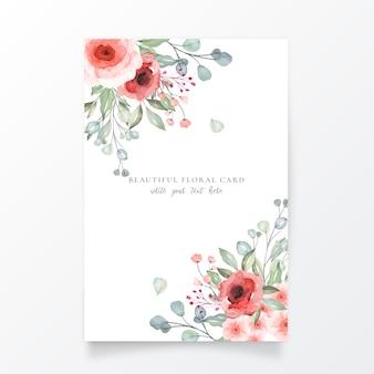 Modelo de cartão floral lindo