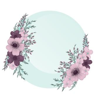 Modelo de cartão floral.