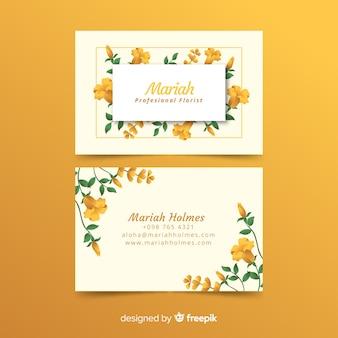 Modelo de cartão floral