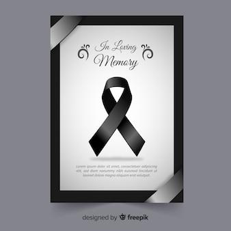 Modelo de cartão fúnebre