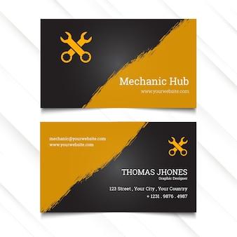 Modelo de cartão horizontal de hub mecânico