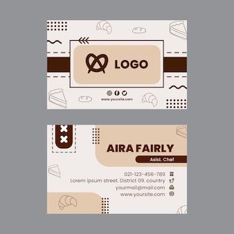 Modelo de cartão horizontal de pão