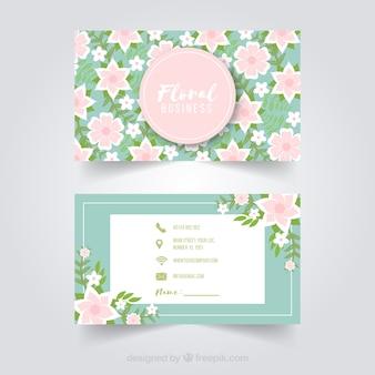 Modelo de cartão lindo com estilo floral