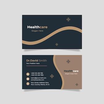 Modelo de cartão médico elegante