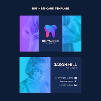 Modelo de cartão médico horizontal gradiente