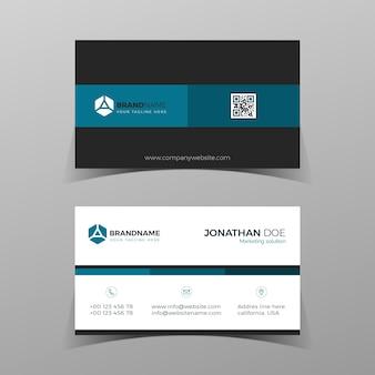 Modelo de cartão moderno azul bussines design elegante de composição de elementos com conceito limpo