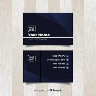Modelo de cartão moderno com estilo elegante